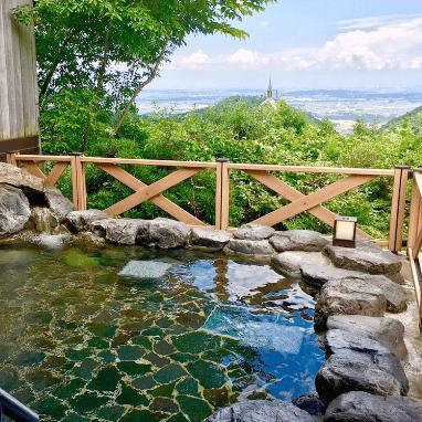 景色と露天風呂