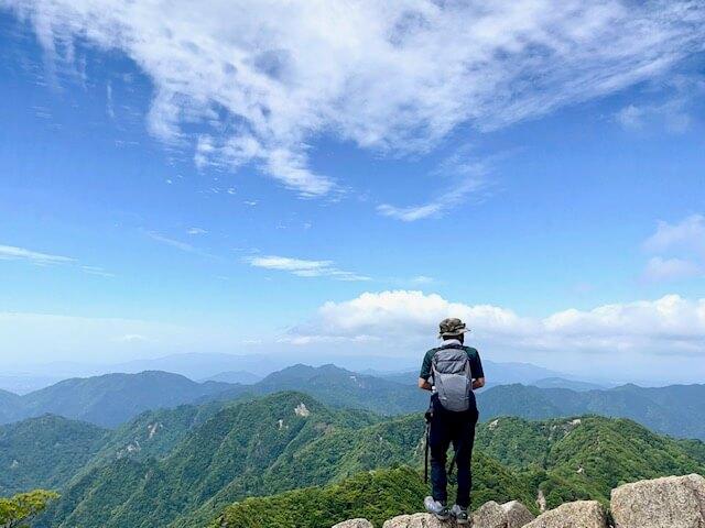 鎌ヶ岳からの眺め