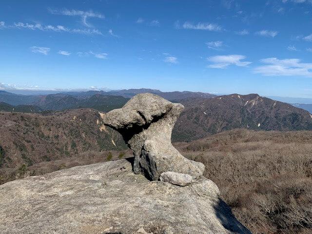 鈴鹿山脈のキノコ岩