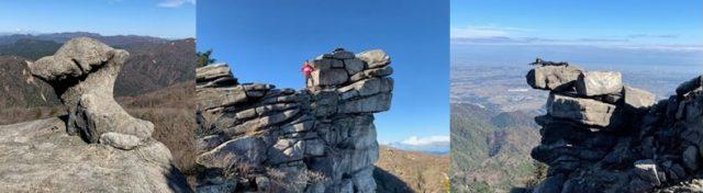国見岳の代表的な奇岩
