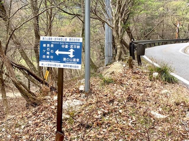 長石ルート登山口