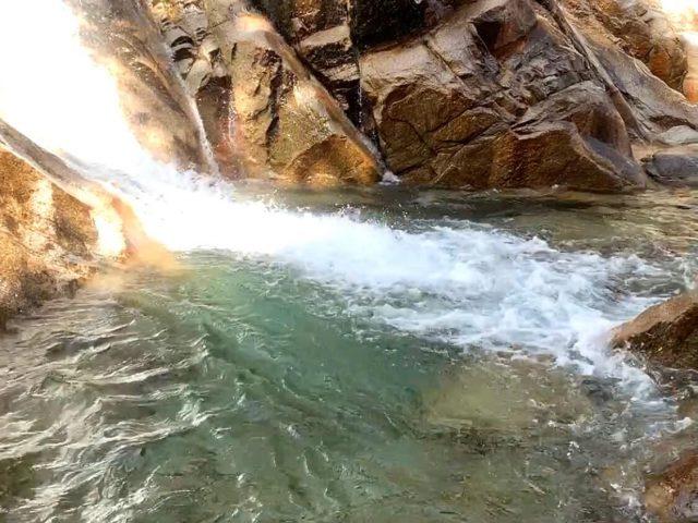 蒼滝の滝つぼ