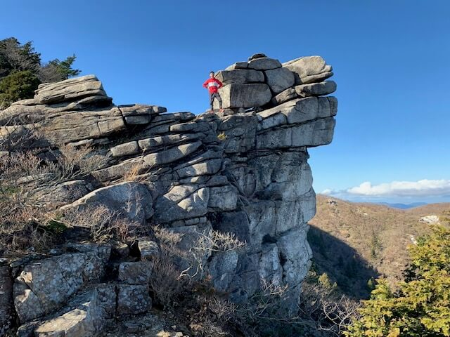 国見尾根の天狗岩