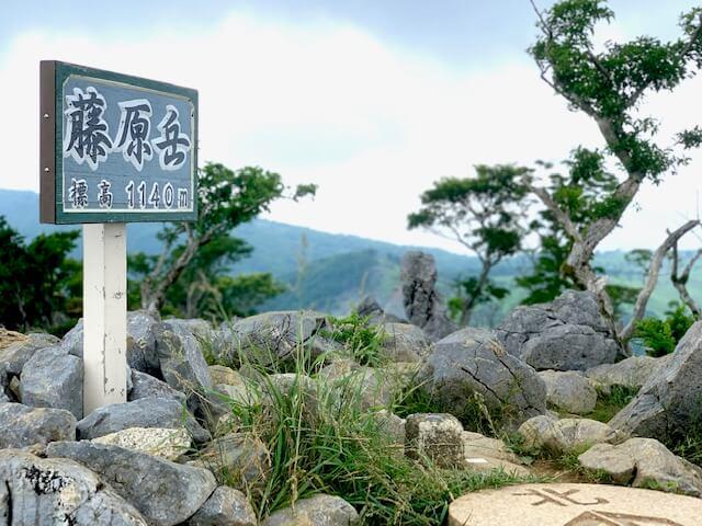 藤原岳山頂