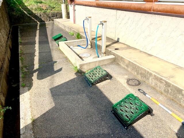 藤原岳無料休憩所にある洗い場